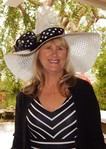 Nancy with Kentucky Derby Hat